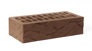 Кирпич лицевой одинарный фактурный Амстердам (Шоколад) Кора дерева