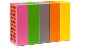 Кирпич лицевой с полимерным покрытием одинарный (тычок) 190 цветов