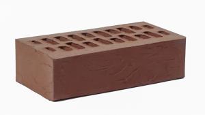 Кирпич лицевой одинарный фактурный Амстердам (Шоколад) Скалистая порода