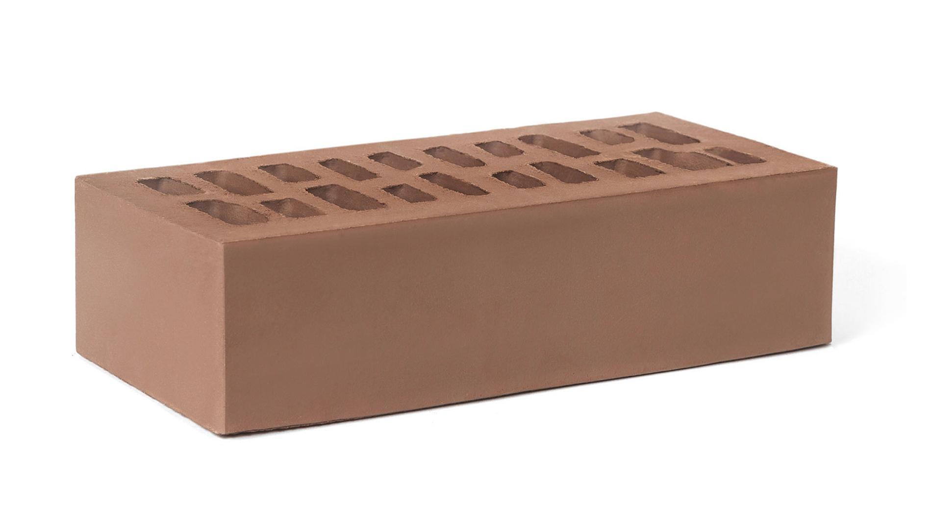 Кирпич лицевой одинарный гладкий Мокко (Темно-молочный шоколад)